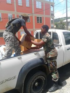 Cadets Delivering Relief Supplies in Dominica