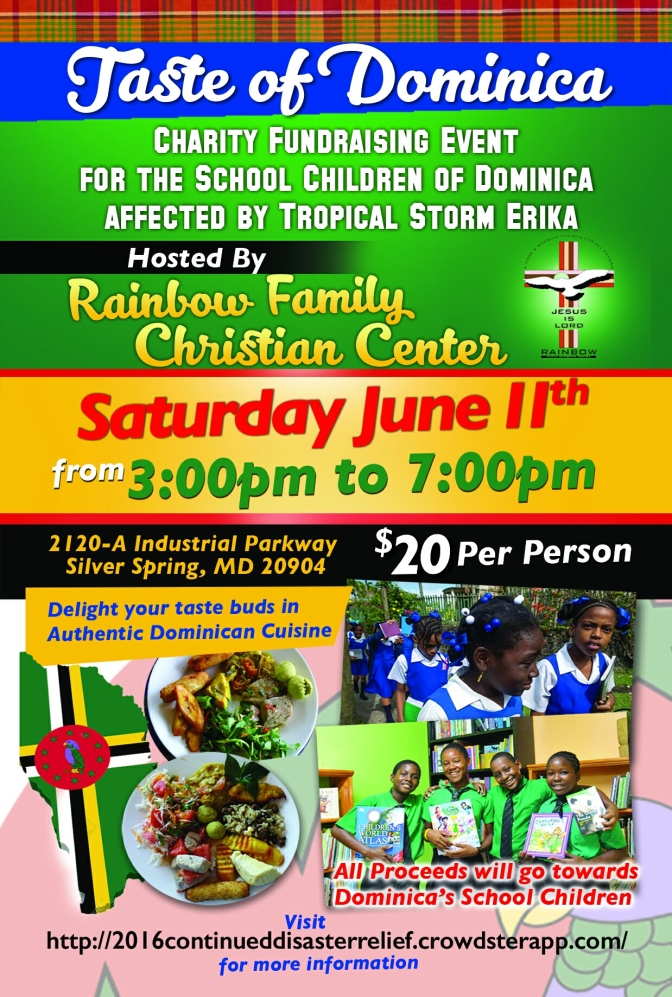 Please Support a Taste Of Dominica!