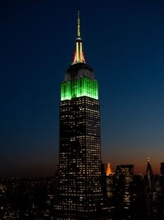 Empire State Building in NYC Honors Victims of Hurricane Maria