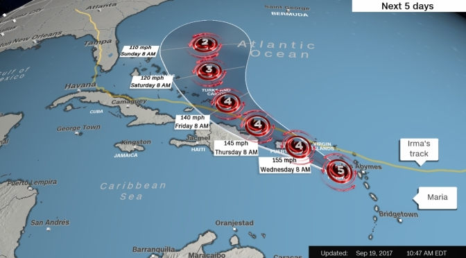 CNN Reports Hurricane Maria Strongest to Hit Dominica